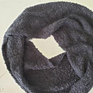 Express black bouclé infinity scarf